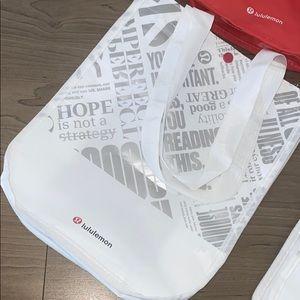 lululemon athletica Bags - LULULEMON REUSABLE PLASTIC BAGS